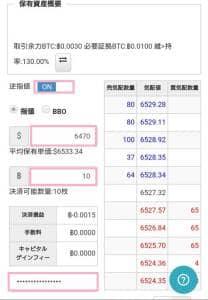 bitbank trade(ビットバンクトレード) ポジション 逆指値決済 01