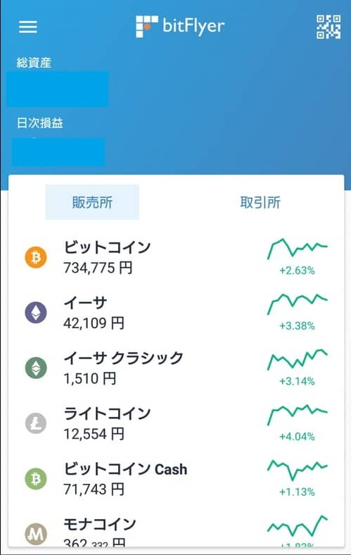 bitFlyer(ビットフライヤー) アプリ 仮想通貨購入 01