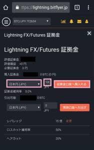 bitFlyer(ビットフライヤー) FX 証拠金預け入れ 03