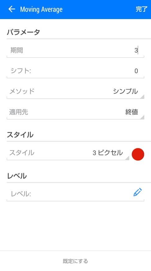 MetaTrader(メタトレーダー) アプリ 3MA 追加 01