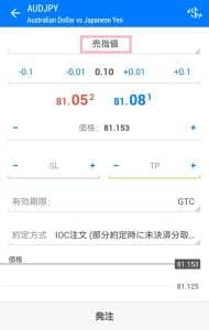 MetaTrader5(メタトレーダー5) 指値注文 02