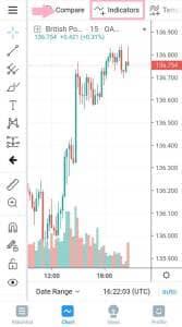 TradingView(トレーディングビュー) アプリ インジケーター追加 01