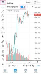 TradingView(トレーディングビュー) アプリ オブジェクト追加 02